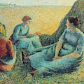 Haymakers Resting, 1891 by Camille Pissarro