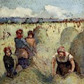 Haymaking, 1895 by Camille Pissarro