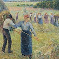 Haymaking At Eragny, 1891 by Camille Pissarro