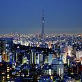 Hazy Skyline With Tokyo Sky Tree by Hidehiko Sakashita