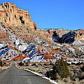 Heading South On Scenic Drive In Capitol Reef Np by Ray Mathis