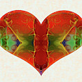 Heart Painting - Vibrant Dreams - Omaste Witkowski by Omaste Witkowski
