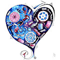 Heart Racing A Mad Shredder Biking Cycling Painting By Megan Duncanson by Megan Duncanson