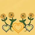 Hearts Bronze by Joan Ellen Kimbrough Gandy of The Art of Gandy
