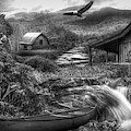 Heaven On Earth In The Mountains In Black And White  by Debra and Dave Vanderlaan