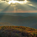 Heaven's Light From White Rock Mountain - Ozark National Forest by Gregory Ballos