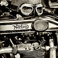 Helmet And Goggles On A Vintage Norton by Tim Gainey