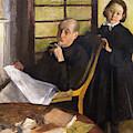 Henri Degas And His Niece Lucie Degas by Peter Barritt