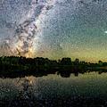 Henry Lake New Zealand Under  Southern Hemisphere Skies  By Olena Art by OLena Art Brand