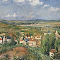 Hermitage In Summer, Pontoise, 1877 by Camille Pissarro