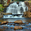 Hickory Run Pocono Waterfall by Adam Jewell