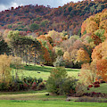 Hills Of Pomfret Vermont In Autumn by Jeff Folger