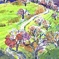 Hilly Landscape In California by Judith Kunzle