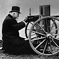 Hiram Maxim Firing His Maxim Machine Gun - 1884 by War Is Hell Store
