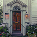Historic Charleston Home - Gas Lantern Entrance by Dale Powell