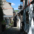 historic cobbled lane in Beilstein Germany by Victor Lord Denovan