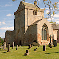 historic Crichton Church and graveyard in Scotland by Victor Lord Denovan