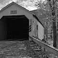 Historic Eagleville Covered Bridge Black And White by Adam Jewell