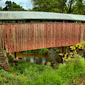 Historic Red Covered Bridge by Adam Jewell