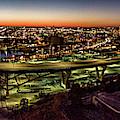 Hoan Bridge At Dusk Panorama by Randy Scherkenbach