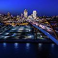 Hoan Bridge At Dusk by Randy Scherkenbach