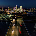 Hoan Bridge Streaks by Randy Scherkenbach