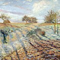Hoarfrost At Ennery, 1873 by Camille Pissarro