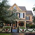 Holiday Victorian Mansion  by Cynthia Guinn