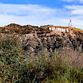 Hollywood California Sign In The Hills by Gregory Ballos