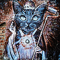 Holy Cat, Wall Painting In Bariloche, Argentina by Lyl Dil Creations