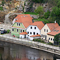Homes On Vltava River by Les Palenik