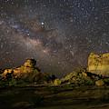 Hoodoos Under The Milky Way Wall Art  by Harriet Feagin