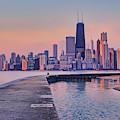 Hook Pier - North Avenue Beach - Chicago by Nikolyn McDonald