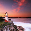 Hornby Lighthouse At Sunset by Yury Prokopenko