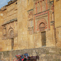Horse And Carriage At The Mezquita Cordoba Spain by Joan Carroll