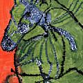 Horse On Orange And Green by Edgeworth DotBlog