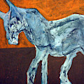 Horse On Orange by Edgeworth DotBlog