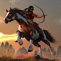 Horseback Archer At Dawn  by Daniel Eskridge