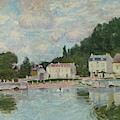 Horses Being Watered At Marly-le-roi, 1875 by Alfred Sisley