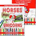 Horses Hearts And Unicorns Activity Coloring Book  by Irina Sztukowski