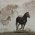 Horses In The Mist by Raymond Ore