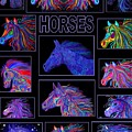 Horses Poster by Nick Gustafson