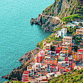 Houses In Riomaggiore Cinque Terre Italy - Dwp1721004 by Dean Wittle
