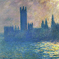 Houses Of Parliament, Sunlight Effect - Digital Remastered Edition by Claude Monet