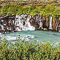 Hraunfossar Waterfall, Iceland by Lyl Dil Creations