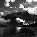 Huayna Potosi Skyscape In Black And White Bolivia by James Brunker