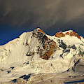Huayna Potosi South And North Peaks Bolivia by James Brunker