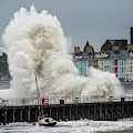 Huge Wave Hitting Aberystwyth Seafront by Keith Morris