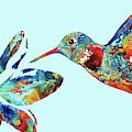 Hummingbird Blue - Sharon Cummings by Sharon Cummings