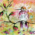Hummingbird Pink Blossoms by Ginette Callaway